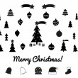 Christmas silhouettes - icons — Stock Vector