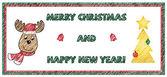 Marry Christmas card — Stock Vector