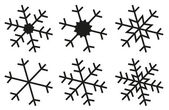 Snowflake silhouettes collection — Stock Vector