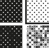 Set of 4 patterns — Stock Vector
