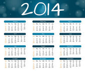 2014 year calendar — Stock Vector