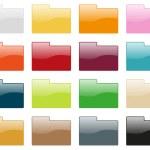 Folder icon collection — Stock Vector