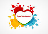 Abstract vector Valentine's card — Stock Vector