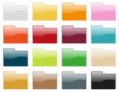 Folder icon collection — Stockvector