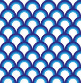 Blue fish scale pattern — Stockvector
