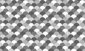 Greyscale fish scale pattern — Stock Vector