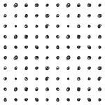 patrón dibujado mano transparente — Vector de stock