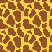 无缝的长颈鹿皮肤纹理 — 图库矢量图片