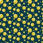 Endless smilies pattern — Stock Vector
