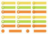 1 - 3 (A - C) progress labels — Stockvektor