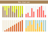 Bar chart set — Stockvektor