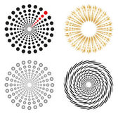 Round shapes set — Stockvektor