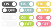 Set of on - off buttons — Stockvector
