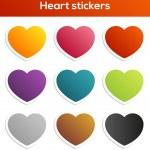 Heart stickers set — Stock Vector #45403257