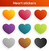 Heart stickers set — Stock Vector
