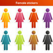 Female stickers collection — Stock Vector #45754385