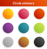 Circle stickers collection — Stock Vector