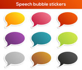 Speach bubble labels collection — Stock Vector