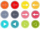 Arrow buttons set — Stock Vector