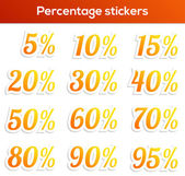 Percentage sticker set — Stock Vector