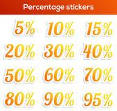 Percentage sticker set — Stock Vector