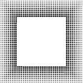 Halftone sqaure frame — Stock Vector