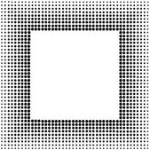 Halftone sqaure frame — Stock Vector