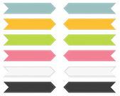 набор из 6 разноцветными лентами указательное — Cтоковый вектор