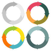 Round arrows set — Stock Vector