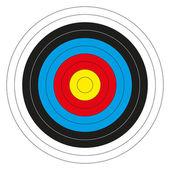 Colorful bullseye target — Stock Vector