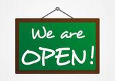 We are open banner — Stock Vector