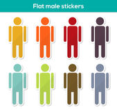Flat male stickers — Stock Vector