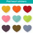 Flat heart stickers — Stock Vector #48068799