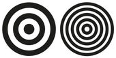 Two simple bullseye targets — Stock Vector