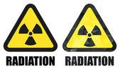 Radiation hazard sign set — Stock Vector