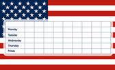 Calendrier scolaire usa drapeau — Vecteur