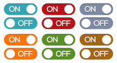 On - off button set — Stock Vector