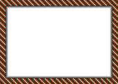 Pixel styled border (frame) in christmas colors — Stock Vector