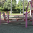 Stock Video: Deserted double galley swing
