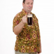 Stock Photo: Fat mmaking toast with stout pint