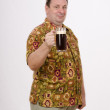 Stock Photo: Mature minvites to have drink stout
