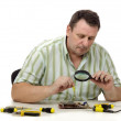 Stock Photo: Checking operation of video card