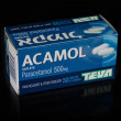 Acamol (Paracetamol) caplets box — Stock Photo