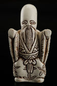 Hand carved fukurokuju netsuke — Stok fotoğraf