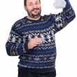 Man raised his left hand with carafe of vodka — Foto Stock