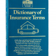 Used paperback Dictionary of Insurance Terms by Harvey W.Rubin — Stock Photo