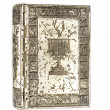 Old shabby prayerbook metal cover — Stock Photo