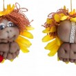 Stock Photo: Both sides of doll little lion