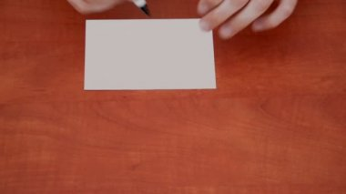 Sign Attention on white sheet — Stock Video