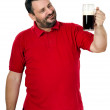 Stock Photo: Happy smiling mlikes stout